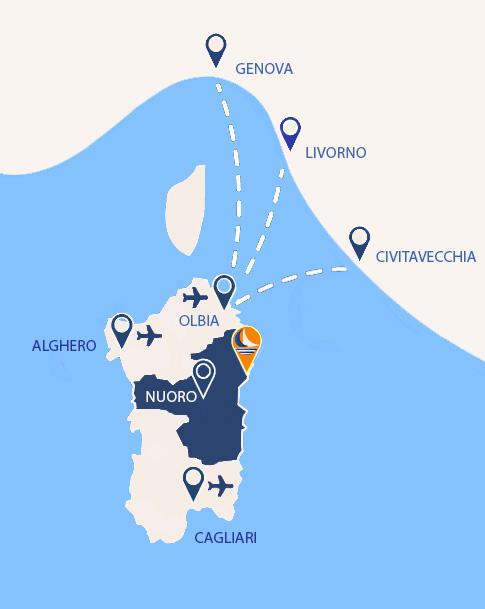 Cartina Porti Sardegna.Porto Sosalinos Dove Siamo